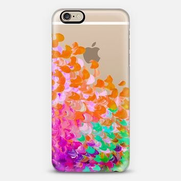 CREATION IN COLOR - TUTTI FRUITTI Colorful Rainbow Splash Ombre Abstract Cool Painting Coastal Ocean Waves Multicolor Transparent Girly Chic Modern Pattern Tropical Exotic Teen Design iPhone 6 case by Ebi Emporium | Casetify