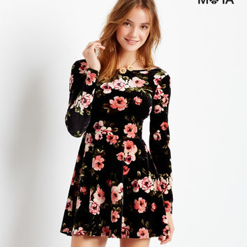 Aeropostale  Rose Velveteen Skater Dress