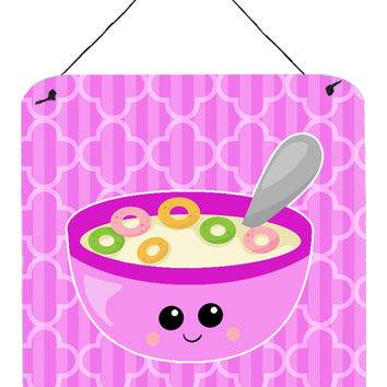 Pink Bowl of Cereal Wall or Door Hanging Prints BB7163DS66