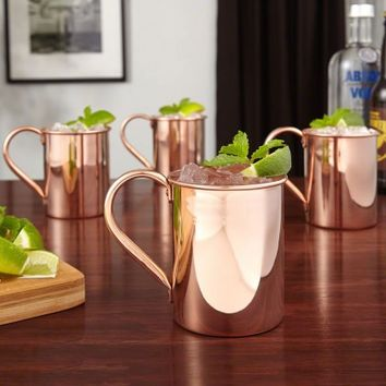 Nikolay 13.5 oz Copper Moscow Mule Mugs, Set of 4