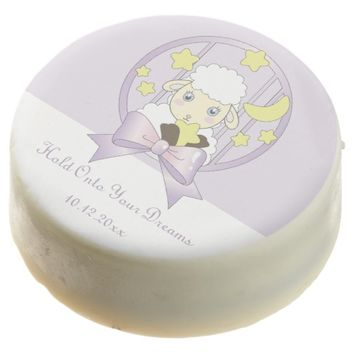 Hold Onto Your Dreams - Cute Lamb, Moon, and Stars Chocolate Dipped Oreo