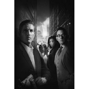 Person Of Interest poster Metal Sign Wall Art 8in x 12in Black and White