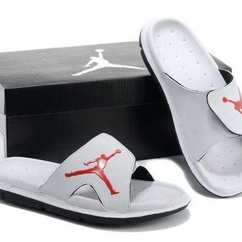 Nike Air Jordan White Casual Sandals Slipper Shoes Size US 7-13