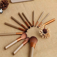 Hot Sale Hot Deal Make-up Beauty On Sale Makeup Brush Sets Metal Box 12-pcs Gold Portable Make-up Brush [8940027527]