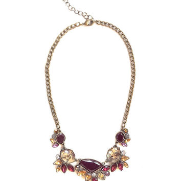 Red statement bib necklace gift idea for her
