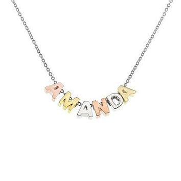 Multi-Color Capital Letter Choker