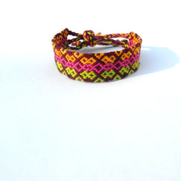 Handmade Bracelet - Colorful Diamond Patterned
