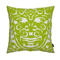 notNeutral Triton 1 Throw Pillow - Green/White