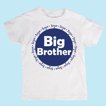 Personalized Big Brother Custom Shirt/Onesuit/ Baby Reveal Shirt