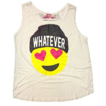 So Nikki Little Girl's Whatever Emoji Tank