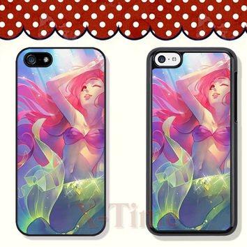 little mermaid, iPhone 5 case iPhone 5c case iPhone 5s case iPhone 4 case iPhone 4s case, Samsung Galaxy S3 \S4 Case--X51121