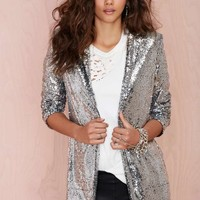 Nasty Gal Hustle Sequin Blazer