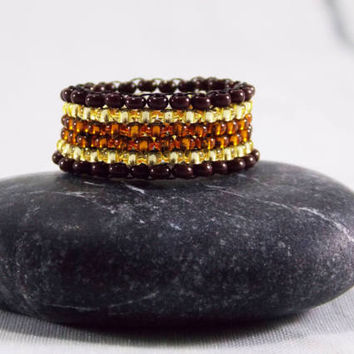 Beaded ring gift for her statement ring bohemian ring midi ring tiny ring minimalist ring gold ring stacking ring simple ring boho ring