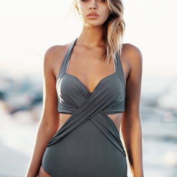Cupshe Soul Mates Cross One-piece Swimsuit
