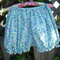 Bloomers Mini Victorian Blue Calico by GratefulBeads on Etsy