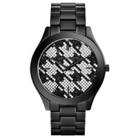 Runway Black Houndstooth Watch