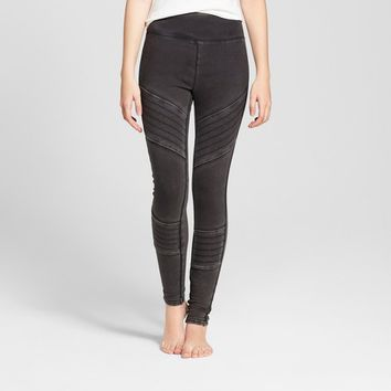 Women's High Waist Moto Leggings - Mossimo Supply Co.™ Washed Black