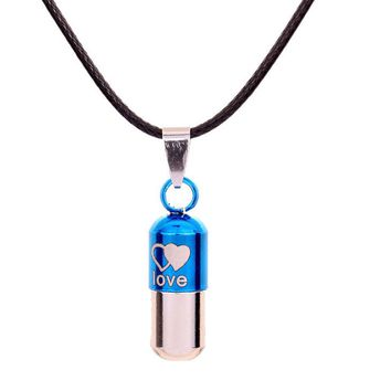 Love Can Open Pills Pendant Necklace for Unisex