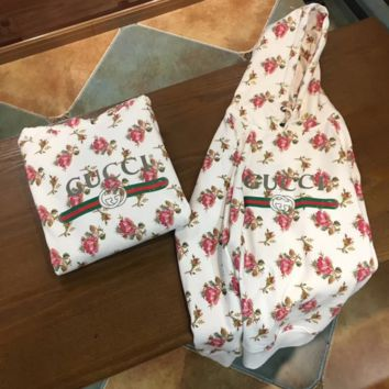 Gucci Fashion Casual Long Sleeve Roses Print Hoodie Sweater