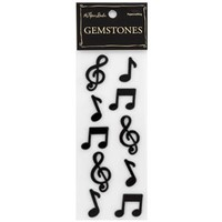 Black Music Notes 3-D Embellishment Stickers | Shop Hobby Lobby