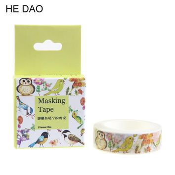 1 Pc / Pack Diy Paper Washi Tape Cartoon Wings And Branches Decorative Adhesive Tape / Masking Tape Stickers Size 15mm*10m