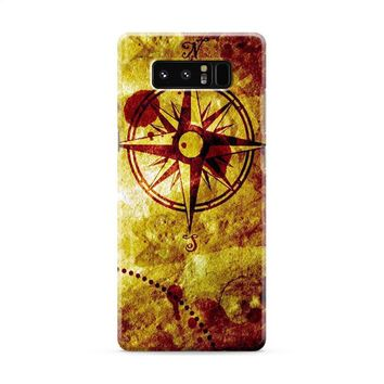 Compass Nautical Map Samsung Galaxy Note 8 Case