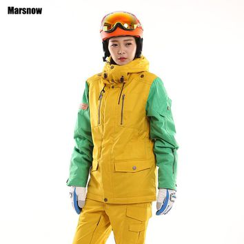 Newest High Quality womens snowboarding jacket Winter Warm -30 Degrees thiken waterproof windproof Compressed Ski Jacket