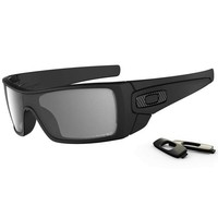 Oakley Batwolf Polarized Sunglasses, Matte Black/Grey Polarized