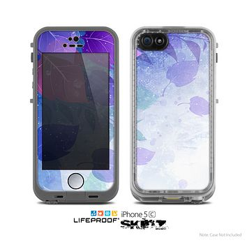 The Magical Abstract Pink & Blue Floral Skin for the Apple iPhone 5c LifeProof Case