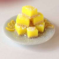 Dollhouse Miniature Lemon Squares