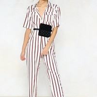 You're Just My Stripe Utility Jumpsuit