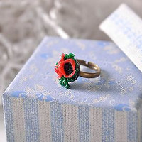 Handmade Polymer clay ring women's fashion jewelry accessories original present