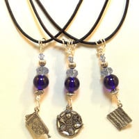 Passover Charm Necklace - Matzah - Seder Plate - Haggadah - Passover Gifts - Jewish Jewelry Gifts