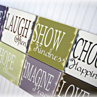 Inspiration Collection Octet Live Love Laugh by cellardesigns