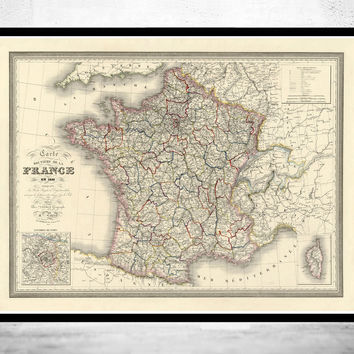 Old Map of France 1835