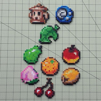 Items and Fruits - Animal Crossing Perler Bead Sprite Set