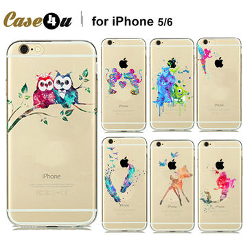 Cute Patterns Lover Couples Owl Dream Catcher Feather Soft Clear Case and cover for fundas iPhone 6s 6 5S 5 7 PLUS capa capinhas