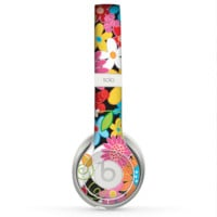 The Vibrant vector Flower Petals Skin for the Beats by Dre Solo 2 Headphones