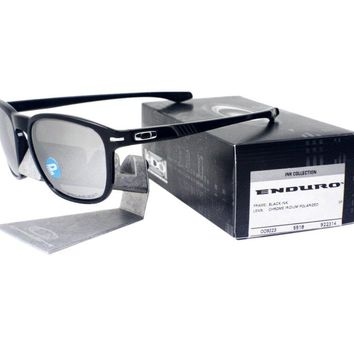 Oakley OO 9223-14 POLARIZED ENDURO Black Ink Chrome Iridium Lens Mens Sunglasses