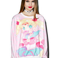 Spree Picky Moon Bunnies Luv Donuts Jumper Multi