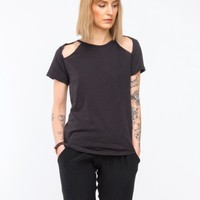 LNA / Diamond Tee in Black