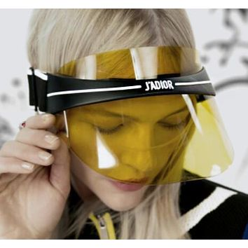 DIOR Fashion Multicolor Women Men Sports Uv Protection Sun Hat Visor Hat Cap Yellow I13480-1