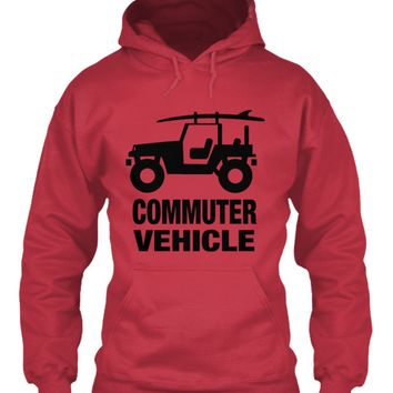 Men's Commuter Vehicle Jeep Surf Hoodie