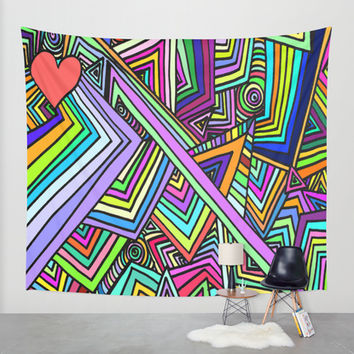 First comes Love, then comes Crazy. Wall Tapestry by DuckyB (Brandi)