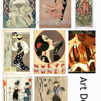 Art Deco Art Images Collage Sheet #104