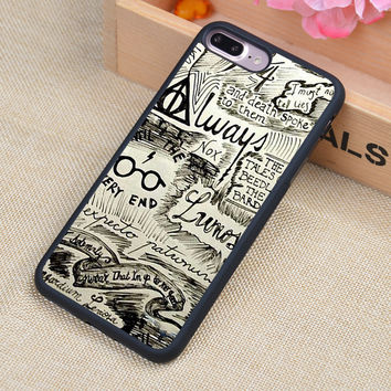 Harry Potter Doodle  Printed Soft TPU Skin Mobile Phone Cases OEM For iPhone 6 6S Plus 7 7 Plus 5 5S 5C SE 4 4S Back Cover Shell