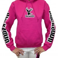 Pullover Hoodie - Berry Pink with White LogoPurchase