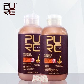 PURC Hair care products prevents premature for hair loss thickening hair shampoo and hair conditioner hot selling
