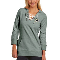 Green Bay Packers Antigua Women's Hustle Lace-Up Hoodie – Green