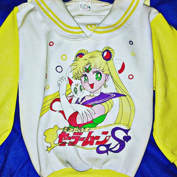 Vintage 90s Bootleg Sailor Moon Sweatshirt